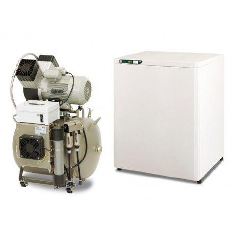 Kompresor EKOM DK50 2V/50S/M - ze skrzynką, z membranowym osuszaczem
